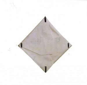 Cesare Berlingeri.Sul bianco piegato.2005.cm 252,5 x 246 x 14.Tecnica mista piegata su tela