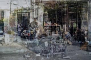 DAVIDE BRAMANTE.My own rave Shanghai.2007.cm 122X180.foto non digitale a colori su carta lamda riportata su plexiglass es.. 1/5