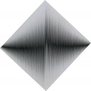 Toni Costa.Alternazione visuale.1967.cm 70x70.pvc bianco