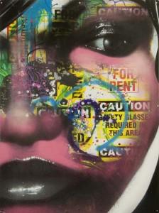 DAZE.Suspect.2007.cm 121,9 x 91,4.spray su alluminio - spray enamel on aluminum