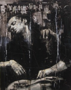 1130. Ecuba trista, misera e cattiva, poscia che vide Polissena morta. Oil and mixed media on canvas. 76 x 61 cm. Hecuba, grieving, wretched, now enslaved, first saw Polyxena, her daughter, dead