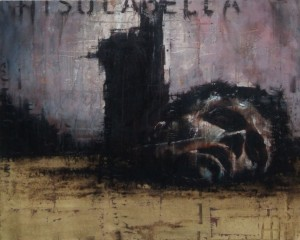 1188. Ghisolabella. oil and mixed media on canvas. 76 x 61 cm. Ghisolabella