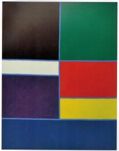 """Piero Dorazio.Tessera II.1971.olio su tela.cm 139 x 111.opera pubblicata su """"Dorazio"""" Alfieri ed..Venezia tav 1362.opera archiviata e già esposta alla galleria Marlbourgh Roma 1972"""