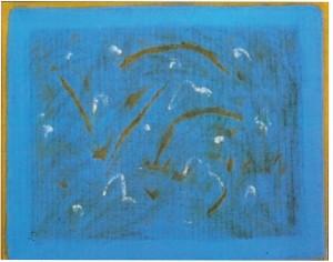 Salvatore Emblema.senza titolo.1968.cm 90 x 100.terre colorate su tela di yuta