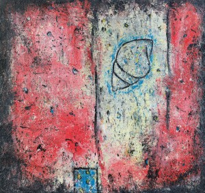 Peter Friedl (Oberneukirchen 1960).Senza titolo.1986.cm 162 x 170 x 4.olio su tela.Firma, anno e località sul retro