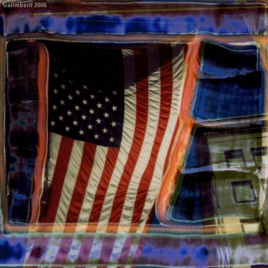"""Maurizio Galimberti.Union Flag.cm 140x170.lambda.pubblicato pag 114 """"New York Polaroid"""" ediz.. Damiani"""