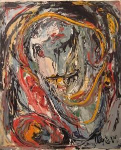 Asger Jorn.Ritratto.1961/62.olio su tela.cm 38x54