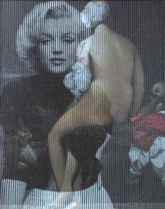 Marilyn Monroe. 2009. cm 100 x 80. collage su tavola