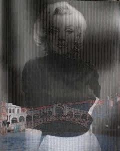 Venezia, Ponte di Rialto. 2009. cm 100 x 85. collage su tavola