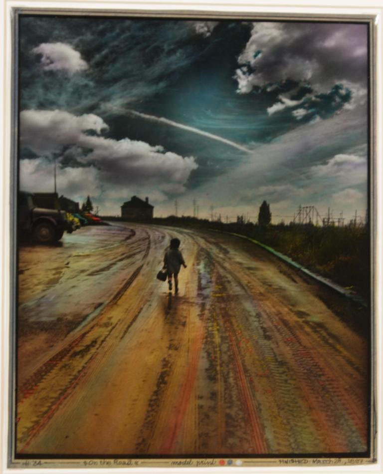 ON THE ROAD. 1997. cm 30x24. foto dipinta - picture painted