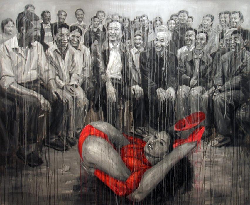EXHIBITIONIST. 2007. cm 220 x 180. acrilico su tela - acrylic on canvas