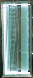 Cronotopo. 2006. scultura in vetro e metallo. cm 120 x 60 x 20