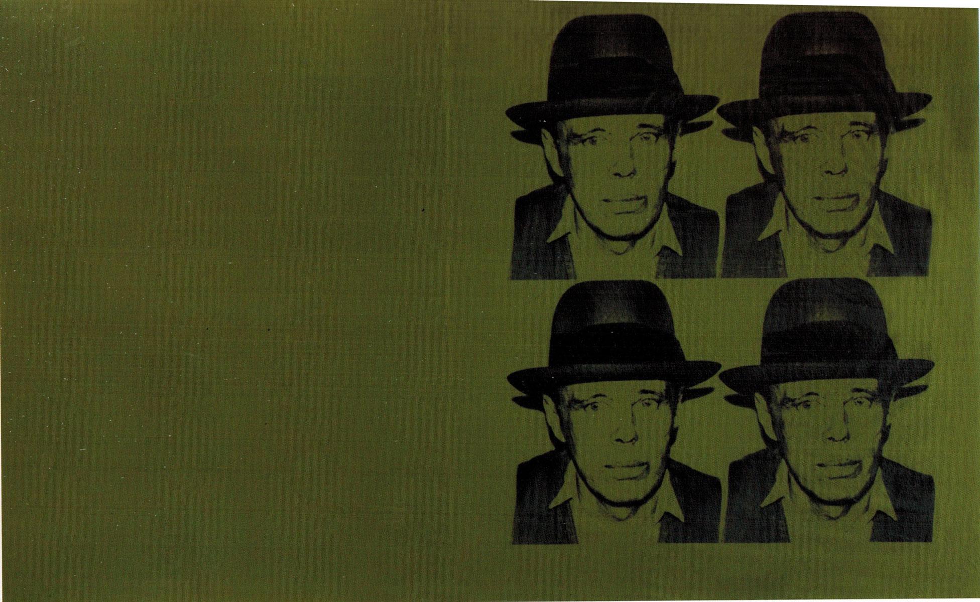 Beuys Laundry Bag. 1980. serigrafia su tela. cm 117 x 187. Pezzo unico