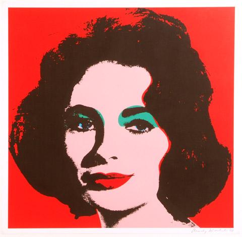 """Liz Taylor. 1964. Litografia offset su carta, tiratura 300 pezzi. cm 58,7 x 58,7. Provenienze: Leo Castelli Gallery, New York, U..S..A..; Collezione privata; Collezione Rosini Gutman, Italia. Pubblicazioni note: Andy Warhol Prints, Catalogue Raisoné, 1962 – 1987, Feldman and Shellmann Pag.. 60 N.. II..7; """"Andy Warhol"""" Cordoba 2006, edizioni d'O..S.. D'Onofrio&Sanjuàn; """"Andy Warhol"""" Palma De Mallorca 2007, edizioni d'O..S.. D'Onofrio&Sanjuàn; """"Andy Warhol"""" Pescara 2007, edizioni d'O..S.. D'Onofrio&Sanjuàn; """"Andy Warhol"""", San Marino 2009, edizione a cura di M..A..R..E..; """"Andy Warhol in the city"""", Perugia 2009, ed.. Pubbliwork; Andy Warhol Collezione Rosini Gutman, Ascoli Piceno 2011; """"Andy Warhol dall'apparenza alla trascendenza"""", Aosta, 2012; """"Andy Warhol: I never read, I just look at pictures"""", Città di Castello, 2013."""
