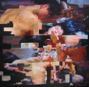 1 Stop series. 2009. cm 200 x 200. oli osu tela - oil on canvas