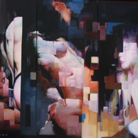 4 stop series. 2009. cm 180 x 240. trittico - oilo su tela - oil on canvas