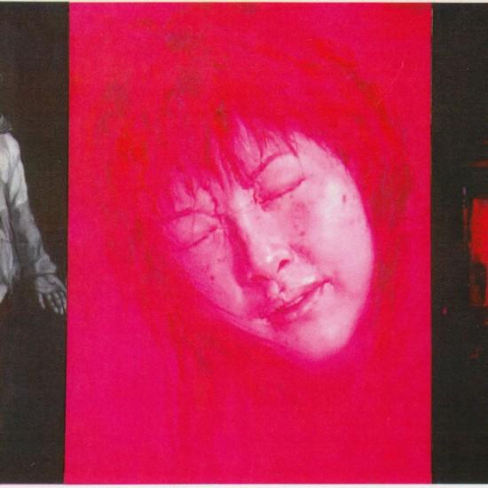 D (prostituta e la sua infanzia). 2008. cm 310 x 200. trittico - olio su tela - oil on canvas